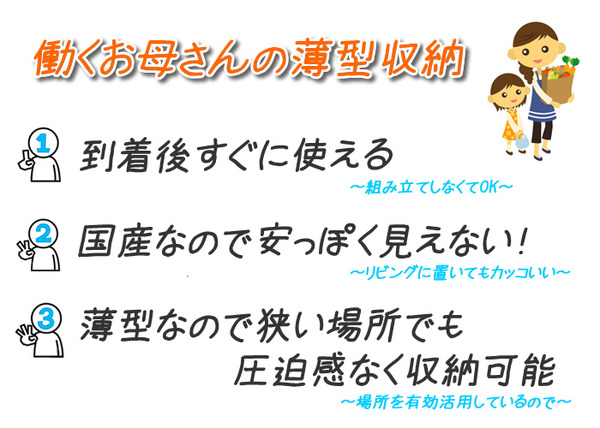 薄型チェスト/リビング収納 【5段/幅60cm】 ホワイト木目調 奥行30cm ストッパー付き引き出し 日本製 【完成品】