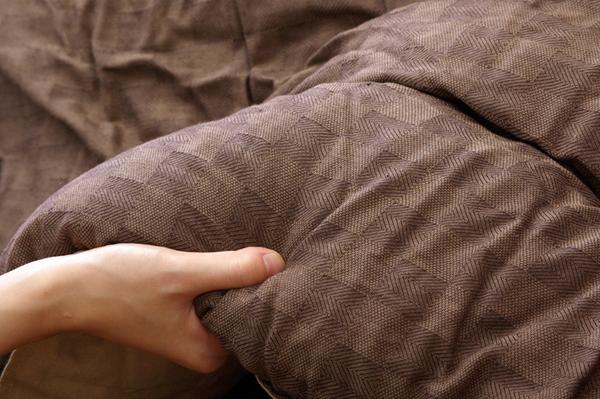 インド綿 こたつ布団 こたつ掛け布団 単品 『クレタ』 グレー 約205×205cm