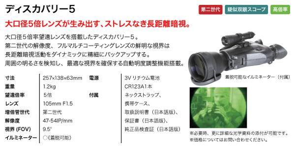 双眼鏡型 暗視スコープ(ナイトビジョン) アーマサイト スパークB