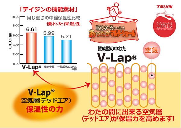 TEIJIN(テイジン) V-lap使用 あったかマルチ・ショール オレンジ