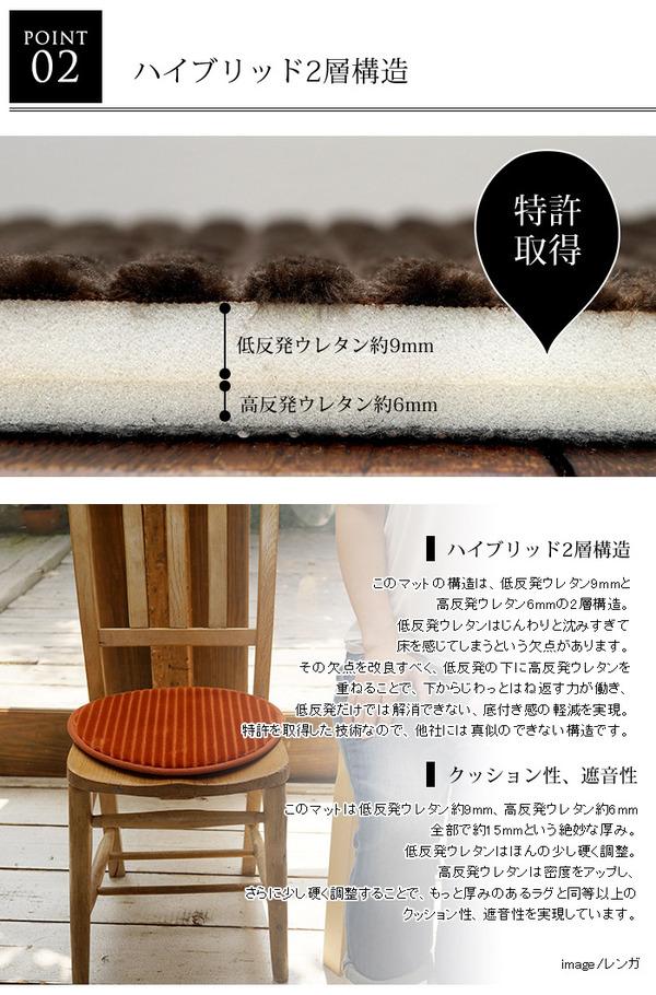 低反発高反発レトロモダンラグマットRC700 直径35cm (TOS) ブラウン