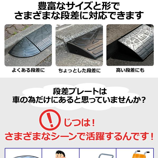 【4個セット】段差スロープ 幅60cm(ゴム製...の説明画像2