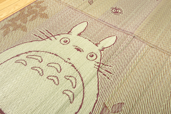 純国産 となりのトトロ い草ラグ 『森のトトロ』 176×176cm