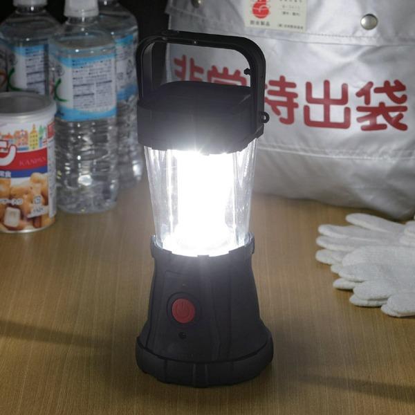 LEDランタン/3WAY充電式24LEDキャンピングランタン 【明るさ:約170ルーメン】 USB差込口付き 〔防災 キャンプ 野外作業〕