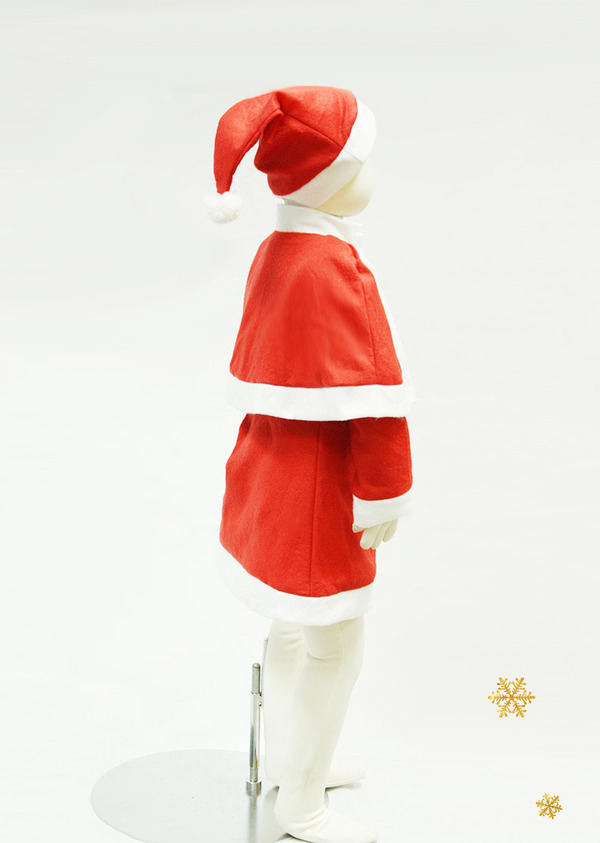 サンタ 衣装 子供用 100 【 P×P ガールズサンタクロース サンタコスチューム子供用 ワンピース&肩がけ 3 - 5才向け 】