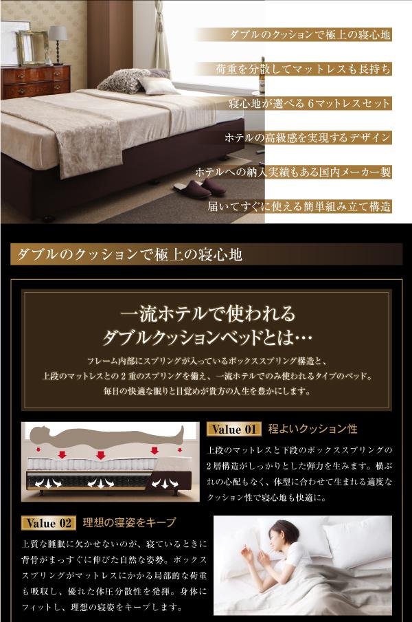 ベッド セミシングル【日本製ポケットコイルマッ...の説明画像2