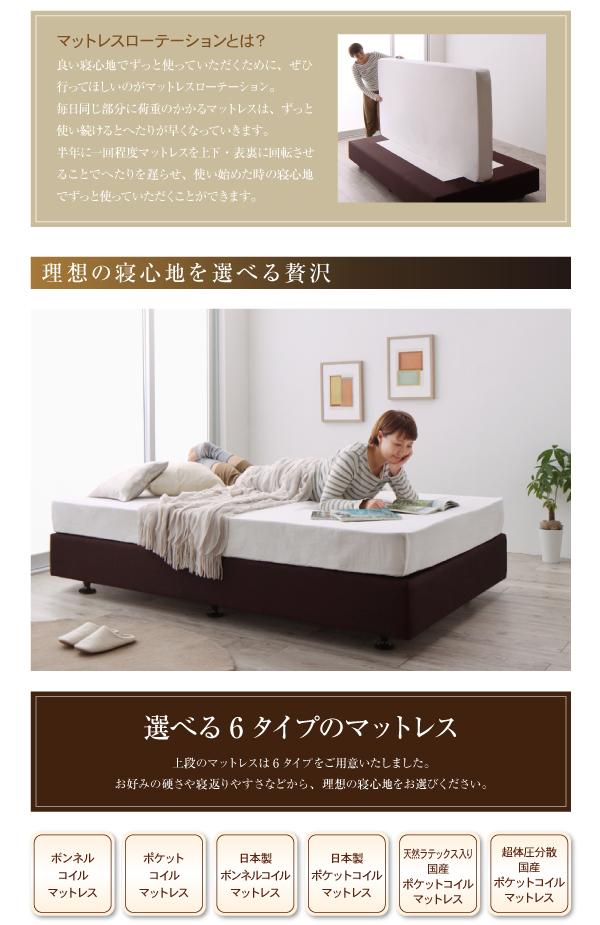 ベッド セミシングル【日本製ポケットコイルマッ...の説明画像4