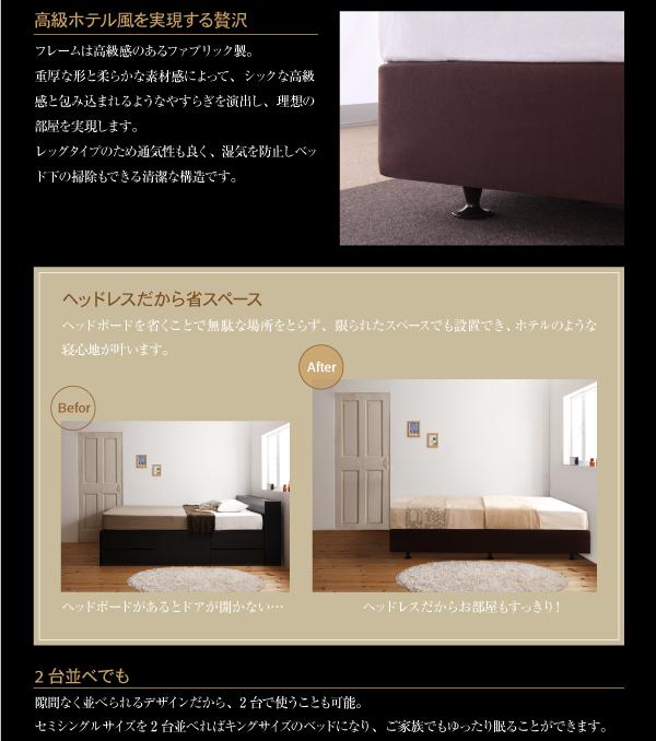 ベッド セミシングル【日本製ポケットコイルマッ...の説明画像6