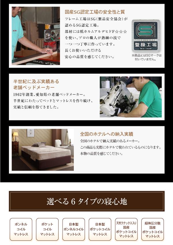 ベッド セミシングル【日本製ポケットコイルマッ...の説明画像8