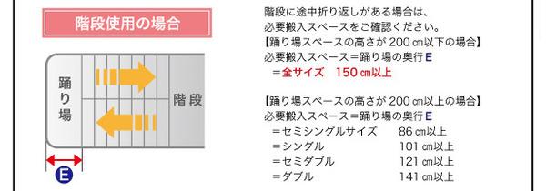 ベッド セミシングル【日本製ポケットコイルマ...の説明画像25