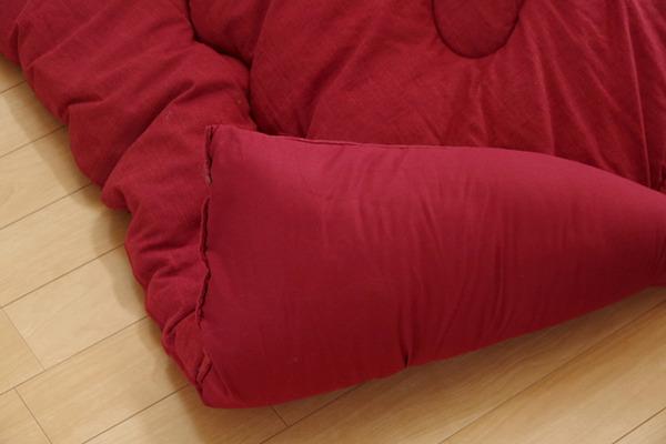 こたつ布団 こたつ掛け布団 長方形 単品 つむぎ調 『カロンAZ-04』 グリーン 約205×245cm (厚掛けタイプ)