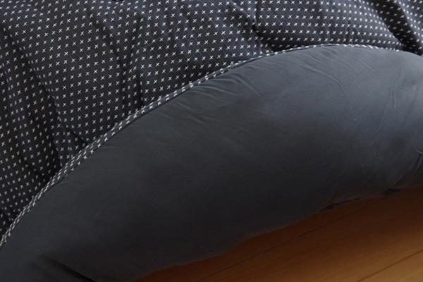 こたつ布団 こたつ掛け布団 丸型 単品 刺子調 『タタンAZ-08』 ネイビー 約225cm丸(厚掛けタイプ)