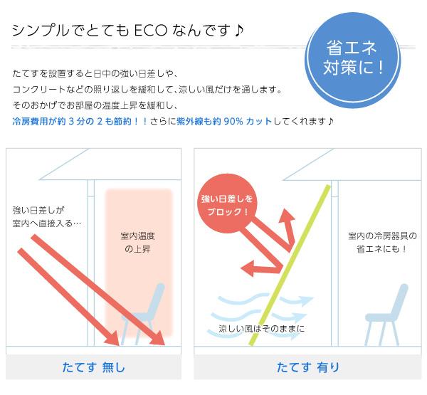 洋風たてす/サンシェード 【同色4セット/グリ...の説明画像2