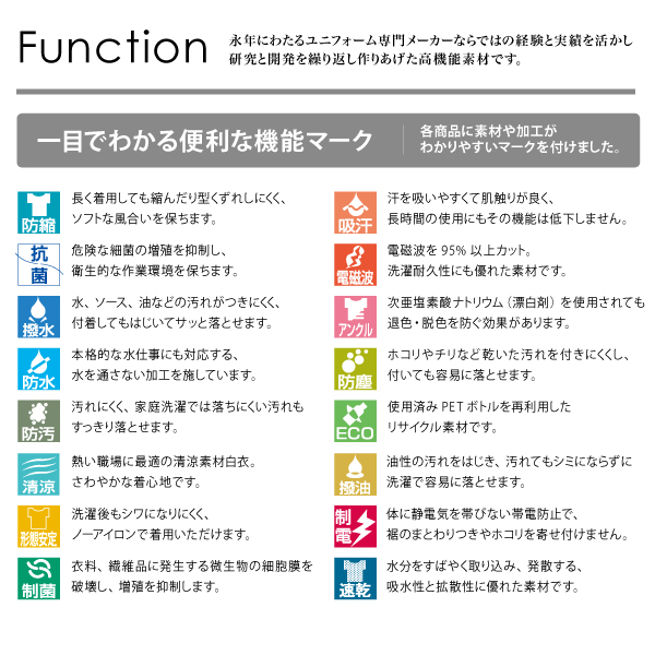 workfriend 調理用白衣男子衿無七分袖...の説明画像8