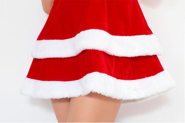 サンタ 大きいサイズ セクシー 【Peach×Peach  エレガントサンタクロース チューブトップ Lサイズ】 サンタコスプレ 大きめ サンタクロース