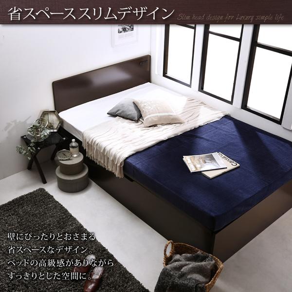 収納ベッド シングル 縦開き 深さラージ 【フ...の説明画像5