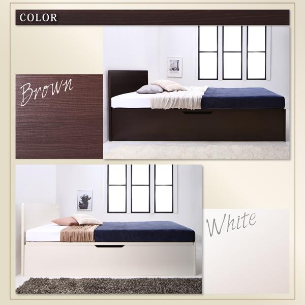 収納ベッド シングル 縦開き 深さラージ 【...の説明画像10