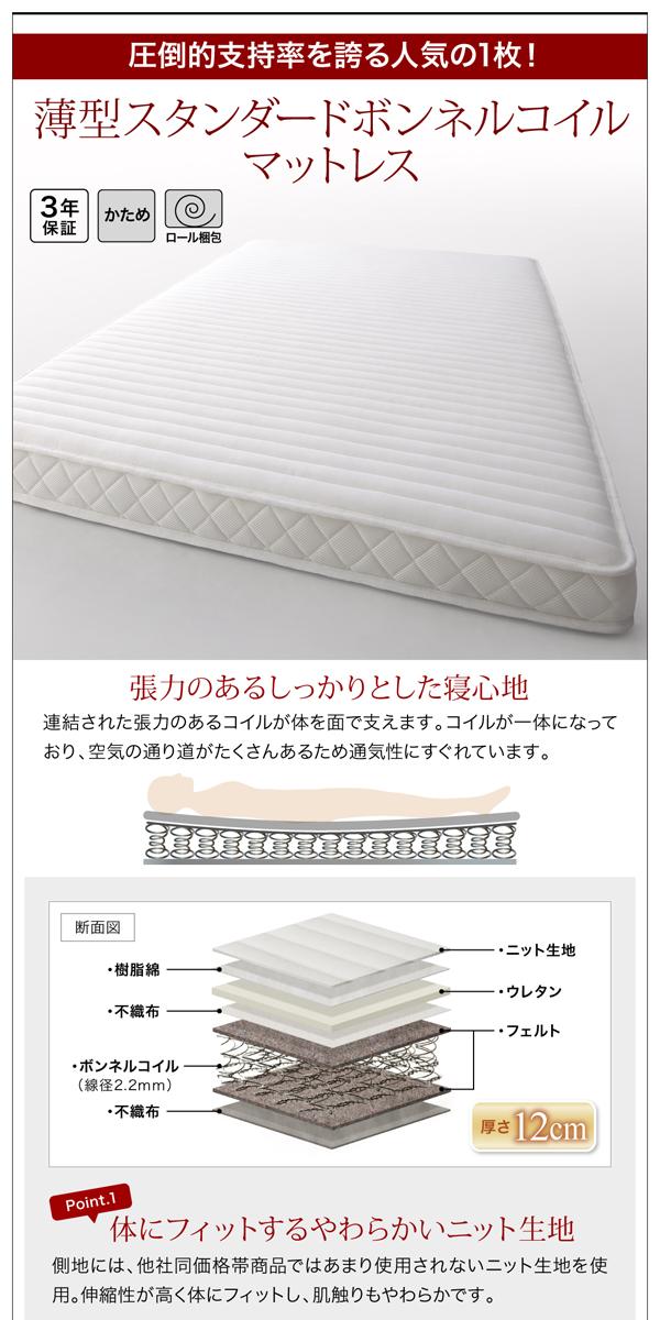 収納ベッド シングル 縦開き 深さラージ 【...の説明画像15