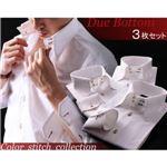 カラーステッチドゥエボットーニ・スナップダウンシャツ(ハンドステッチタイプ)3枚セット 3L
