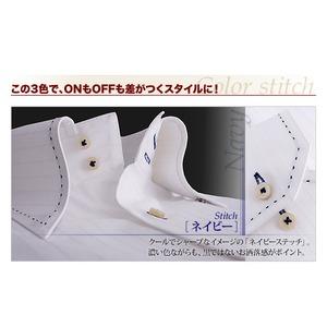 カラーステッチドゥエボットーニ・スナップダウンシャツ(ハンドステッチタイプ)3枚セット M