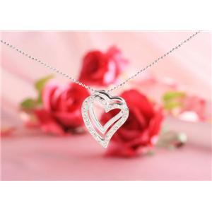 ROSSONA ダイヤモンドコレクション 0.3ct天然ダイヤ20石ペンダント(Heart Boxつき) Love Heart