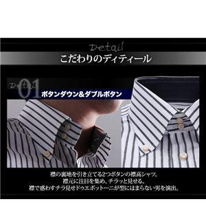 チラ見せドゥエボットーニ・ホワイト系シャツ3枚セット L 写真3