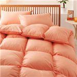 【ベッド専用】新20色羽根布団8点セット ベッドタイプ・セミダブル コーラルピンク