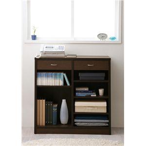 ブックシェルフ Simple [ シンプル ] :A 幅90×高さ90cm ブラウン
