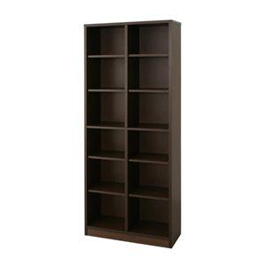 ブックシェルフ Simple [ シンプル ] :B 幅75×180cm ブラウン