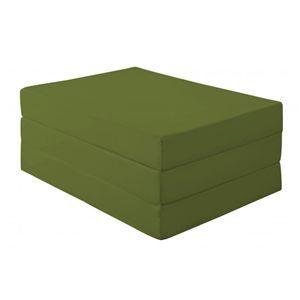 新20色 厚さが選べるバランス三つ折りマットレス 12cm セミダブル オリーブグリーン