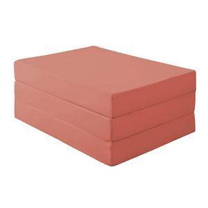 新20色 厚さが選べるバランス三つ折りマットレス 12cm シングル ローズピンク
