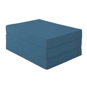新20色 厚さが選べるバランス三つ折りマットレス 12cm ダブル ブルーグリーン