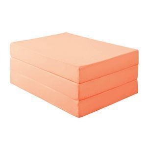 新20色 厚さが選べるバランス三つ折りマットレス 12cm ダブル コーラルピンク