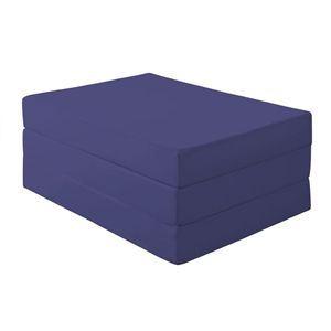 新20色 厚さが選べるバランス三つ折りマットレス 12cm セミダブル ミッドナイトブルー