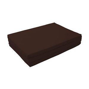 新20色 厚さが選べるバランス三つ折りマットレス 6cm ダブル モカブラウン(仏=ブラウン)