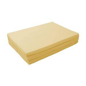 新20色 厚さが選べるバランス三つ折りマットレス 6cm ダブル ナチュラルベージュ(仏=ベージュ)