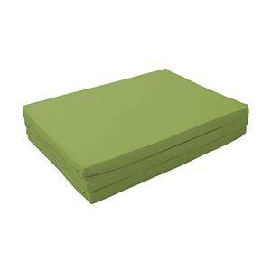 新20色 厚さが選べるバランス三つ折りマットレス 6cm ダブル オリーブグリーン