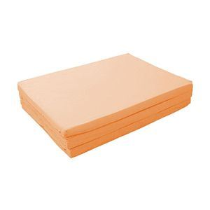 新20色 厚さが選べるバランス三つ折りマットレス 6cm ダブル コーラルピンク