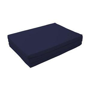 新20色 厚さが選べるバランス三つ折りマットレス 6cm セミダブル ミッドナイトブルー