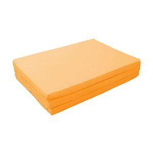 新20色 厚さが選べるバランス三つ折りマットレス 6cm ダブル サニーオレンジ
