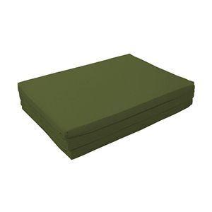 新20色 厚さが選べるバランス三つ折りマットレス 6cm セミダブル モスグリーン