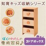 知育キッズ収納シリーズ 【3ドアボックス】