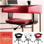 チェア【Valerio】ブラック モダンデザインオフィスチェア/デスクチェア【Valerio】ヴァレリオ