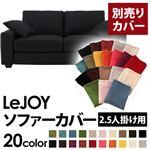 【Colorful Living Selection LeJOY】リジョイシリーズ:20色から選べる!カバーリングソファ・ワイドタイプ  【別売りカバー】2.5人掛け (カラー:ジェットブラック)