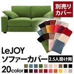 【Colorful Living Selection LeJOY】リジョイシリーズ:20色から選べる!カバーリングソファ・ワイドタイプ  【別売りカバー】2.5人掛け (カラー:グラスグリーン)