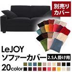 【Colorful Living Selection LeJOY】リジョイシリーズ:20色から選べる!カバーリングソファ・ワイドタイプ  【別売りカバー】2.5人掛け (カラー:クールブラック)