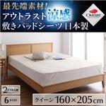 【単品】敷パッド クイーン ブルー 最先端素材!アウトラスト涼感敷きパッドシーツ 日本製