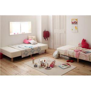 マットレスベッド セミシングル 脚15cm さくら 新・ショート丈ポケットコイルマットレスベッド