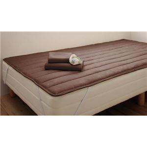 マットレスベッド セミシングル 脚22cm モカブラウン 新・ショート丈ポケットコイルマットレスベッド
