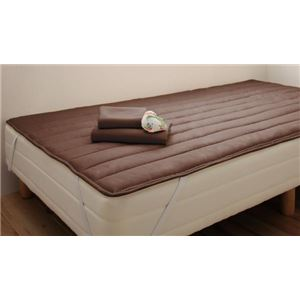 マットレスベッド セミシングル 脚30cm モカブラウン 新・ショート丈ポケットコイルマットレスベッド
